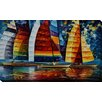 "Picture Perfect International ""Sea Regatta"" by Leonid Afremov Painting Print on Wrapped Canvas"