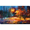 "Picture Perfect International ""Shadows on Snow"" by Leonid Afremov Painting Print on Wrapped Canvas"
