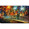 """Picture Perfect International """"Date on the Bridge"""" by Leonid Afremov Painting Print on Wrapped Canvas"""