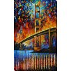"Picture Perfect International ""Golden Gate Bridge"" by Leonid Afremov Painting Print on Wrapped Canvas"