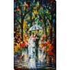"""Picture Perfect International """"Wedding Under the Rain"""" by Leonid Afremov Painting Print on Wrapped Canvas"""