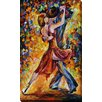 """Picture Perfect International """"In the Ythm of Tango"""" by Leonid Afremov Painting Print on Wrapped Canvas"""