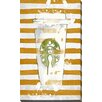 "Picture Perfect International ""Starbucks and Stripes"" by BY Jodi Graphic Art on Wrapped Canvas"