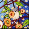"Picture Perfect International ""Bird X"" by Jennifer Lommers Painting Print on Wrapped Canvas"
