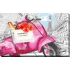 "Picture Perfect International ""Scoot around Paris 3"" by BY Jodi Graphic Art on Wrapped Canvas"