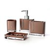 Immanuel Cristal 4 Piece Bathroom Accessory Set