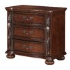 Fairfax Home Collections Verona 3 Drawer Nightstand