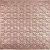 Ceilume Signature 2 ft. x 2 ft. Lay-In or Glue-Up Ceiling Tile in Faux Copper (Set of 6)