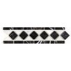 Seven Seas Bianco Carrara Basket Weave Border Polished in Nero Marquina and Arctic White (Set of 10)
