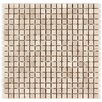 "Seven Seas 5/8"" x 5/8"" Square Mosaic Polished in Crema Marfil"