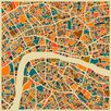 Monde Mosaic London Map by Jazzberry Framed Graphic Art