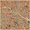 DE Monde Mosaic Gerahmter Grafikdruck Berlin, Germany Map von Jazzberry