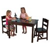 KidKraft Kids 3 Piece Wood Table and Chair Set