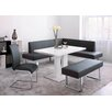 Armen Living Amanda 4 Piece Dining Set