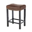 "Armen Living Tudor Wrangler 26"" Bar Stool with Cushion"