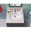 """Ronbow 25"""" x 22"""" Marble Vanity Top in Cream Beige with 8"""" Widespread Faucet Hole"""