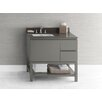 Ronbow Contempo Chloe Wood Cabinet Vanity Slate Gray Base