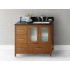 "Ronbow Juno 36"" Bathroom Vanity Cabinet Base in Cinnamon - Doors on Right"