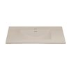 """Ronbow Kara 49"""" Ceramic Sinktop with Single Faucet Hole in Cool Gray"""
