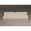 """Ronbow Evin 37"""" Ceramic Sinktop with 8"""" Widespread Faucet Hole in Bisciut"""