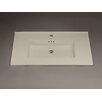 """Ronbow Larisa 32"""" Ceramic Sinktop with Single Faucet Hole in Cool Gray"""
