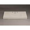 """Ronbow Evin 37"""" Ceramic Sinktop with 8"""" Widespread Faucet Hole in Cool Gray"""