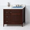 "Ronbow Briella 36"" Bathroom Vanity Cabinet Base in American Walnut"