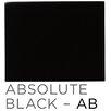 """Ronbow Bordeaux 37"""" x 22"""" Granite Vanity Top in Absolute Black"""