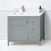 """Ronbow Briella 36"""" Bathroom Vanity Cabinet Base in Ocean Gray"""