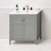 """Ronbow Briella 30"""" Bathroom Vanity Cabinet Base in Ocean Gray"""