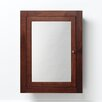 """Ronbow Neo-Classic 24"""" x 32"""" Solid Wood Framed Medicine Cabinet in American Walnut"""