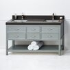 "Ronbow Newcastle 60"" Double Bathroom Vanity Base in Ocean Gray"