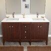 """Ronbow Sophie 60"""" Bathroom Double Vanity Base in American Walnut"""