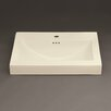 "Ronbow Evin 24"" Ceramic Sinktop with Single Faucet Hole in Biscuit"