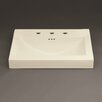 "Ronbow Evin 24"" Ceramic Sinktop with 8"" Widespread Faucet Hole in Biscuit"