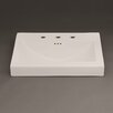 "Ronbow Evin 24"" Ceramic Sinktop with 8"" Widespread Faucet Hole in Cool Gray"