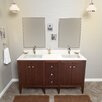 "Ronbow Sophie 60"" Double Bathroom Vanity Set with Mirror"