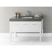 "Ronbow Calabria 48"" Bathroom Vanity Base Cabinet in White"