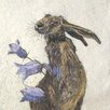 AnnabelLangrish Hare with Harebell by Annabel Langrish Graphic Art