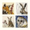 AnnabelLangrish Wildlife by Annabel Langrish 4 Piece Graphic Art Set