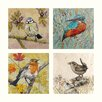 AnnabelLangrish Birds by Annabel Langrish 4 Piece Graphic Art Set