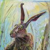 """AnnabelLangrish Schild """"Morning Hare"""" von Annabel Langrish, Kunstdruck"""