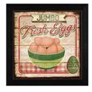 Trendy Decor 4U 'Jumbo Fresh Eggs' by Mollie B. Framed Graphic Art