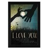 Trendy Decor 4U 'I Love You Underneath the Moon' by Marla Rae Framed Graphic Art
