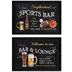 Trendy Decor 4U 'Sports Bar' by Debbie DeWitt 3 Piece Framed Graphic Art Set