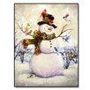 Trendy Decor 4U Top Hat Snowman Graphic Art on Canvas (Set of 50)