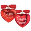 Lighthouse Christian Products 2 Piece Messiah & Immanuel Heart Ornaments Set