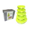 Tectron 5 Piece Glass Bowl Set with Lid