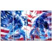 Design Art Hockey USA Goalie 4 Piece Graphic Art on Wrapped Canvas Set