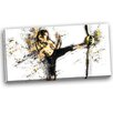 Design Art Kick Ball Graphic Art on Wrapped Canvas